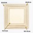 Fa horgolható alap négyzet 20×20 cm