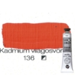 Pannoncolor akrilfesték kadmium világosvörös 136 22 ml