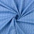 Pamutvászon leveles ágak kék