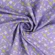 Pamutvászon gyöngysor virággal lila-sárga