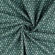 Pamutvászon mákvirág kékeszöld