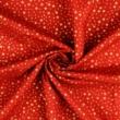 Pamutvászon karácsonyi apró arany csillagos piros