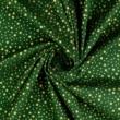 Pamutvászon karácsonyi apró arany csillagos zöld