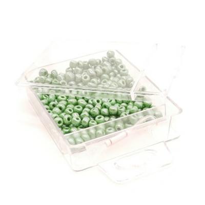 Kásagyöngy damillal gyöngyház 4 mm 30 g sötétzöld