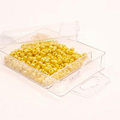 Kásagyöngy damillal gyöngyház 4 mm 30 g citromsárga