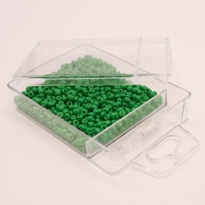 Kásagyöngy damillal 2 mm 30 g telt zöld