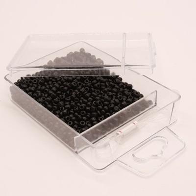 Kásagyöngy damillal 2 mm 30 g telt fekete