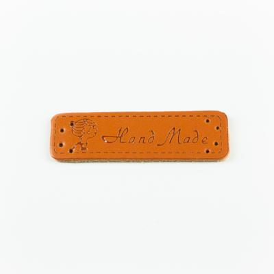 Hand made címke bőrutánzat 5×1,5 cm lady