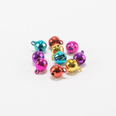 Csengettyű kerek füles 8 mm fényes vegyes színek 10 db
