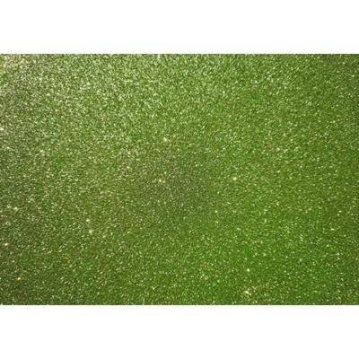 csillámos dekorgumi 2 mm A4 világoszöld