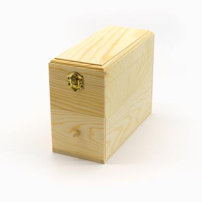 Fa doboz fiókkal, lekerekített sarkokkal