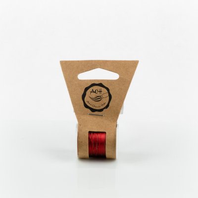 Gyöngyfűződrót réz 0,3 mm 10 m piros