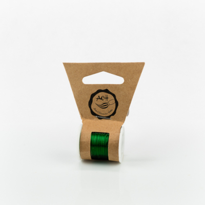Gyöngyfűződrót réz 0,3 mm 10 m zöld