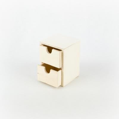Fa két fiókos tároló kicsi 8×7,5×11 cm