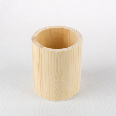Fa ceruzatartó kerek 10×8 cm