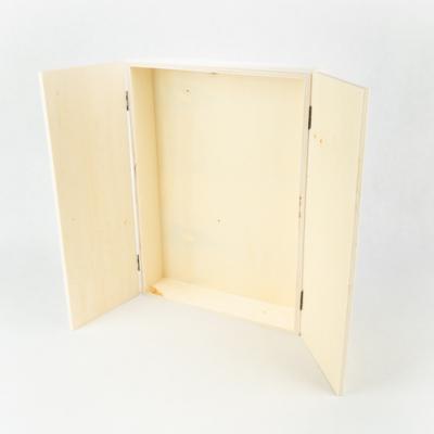 Fa doboz két ajtós A4-es