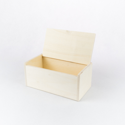 Fa doboz nyíló tetővel 15×6,5×5 cm