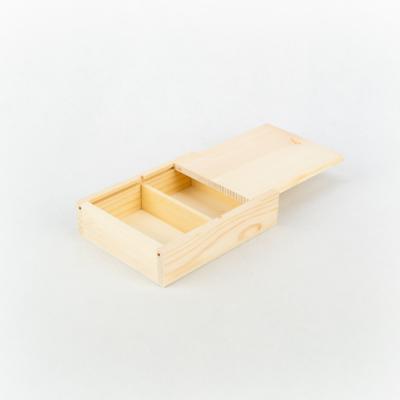 Fa doboz kártyához 14×11×3,5 cm