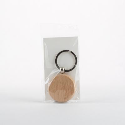 Fa kulcstartó kerek 4 cm bükk