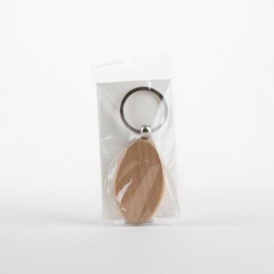 Fa kulcstartó ovális 3,2×5,5 cm bükk