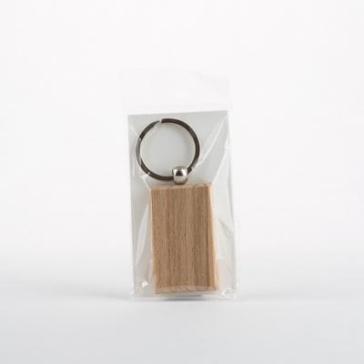 Fa kulcstartó téglalap 3,2×5,2 cm bükk