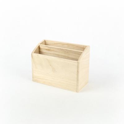 Fa tárolódoboz két fakkos 17×8×13 cm