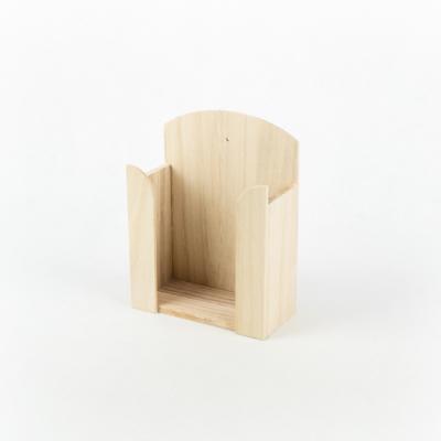 Fa papírzsebkendő tartó kicsi 13×17×6 cm