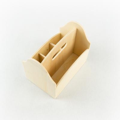 Fa rekeszes tároló 3+1 rekeszes 13,5×9×11 cm