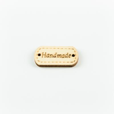 Hand made címke fa 2,5×1 cm