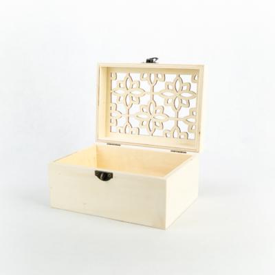 """Fa fedeles doboz áttört tetővel 18×13×9 cm """"Marokkó"""""""
