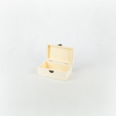 Fa fedeles doboz lekerekített tetővel 12,5×7,5×5,5 cm