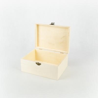 Fa fedeles doboz lekerekített tetővel 18,5×13,5×8,5 cm