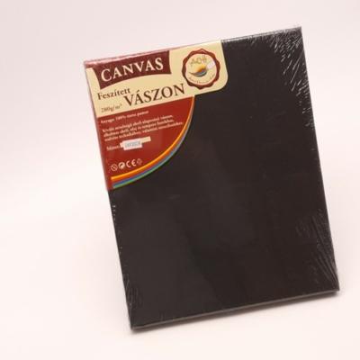 Feszített vászon hobbi 24×30 cm fekete
