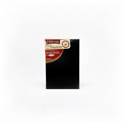 Feszített vászon hobbi 18×24 cm fekete