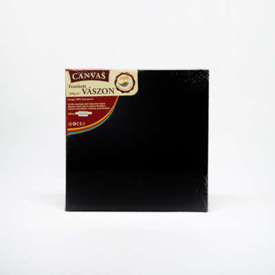 Feszített vászon hobbi 30×30 cm fekete