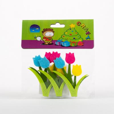 Filc tulipán öntapadós 3 db-os