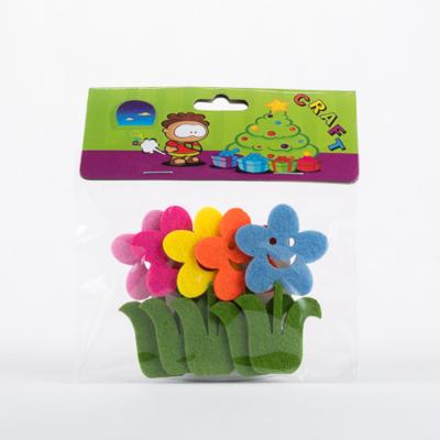 Filc mosolygó virág öntapadós 5 db-os