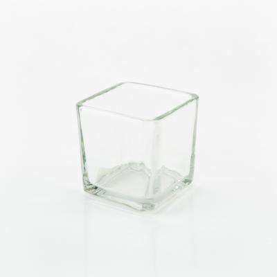 Mécsestartó üveg kocka 5 cm