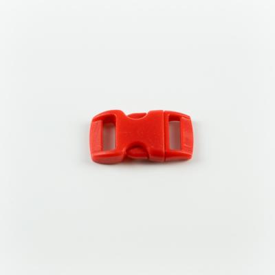 Műanyag csat 1 cm-es piros