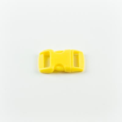 Műanyag csat 1 cm-es napsárga