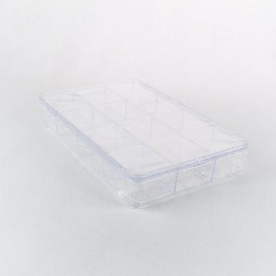 Műanyag rekeszes doboz tetővel 23×15×3,5 cm