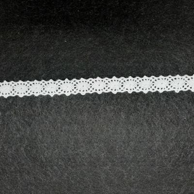 Pamut csipke köztes 12 mm fehér