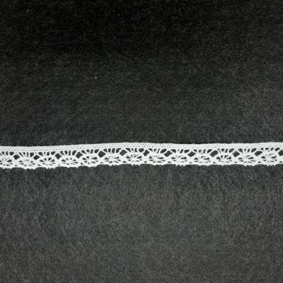 Pamut csipke  12 mm fehér