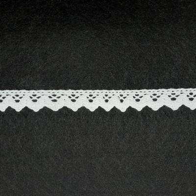 Pamut csipke  18 mm fehér