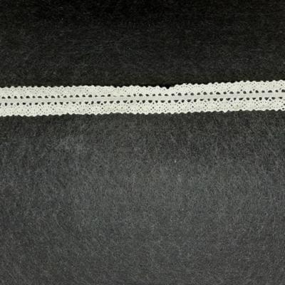 Pamut csipke középen gumis 20 mm bézs