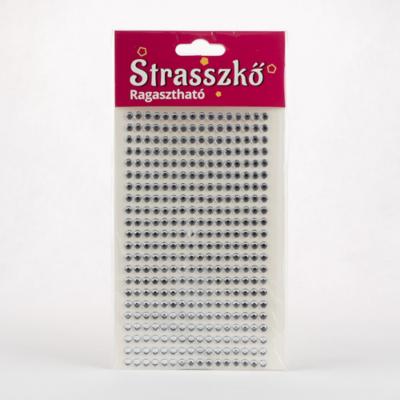 Ragasztható strassz 5 mm-es ezüst