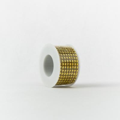Strasszos szalag arany 4 cm-es 2,2 m