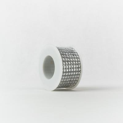 Strasszos szalag ezüst 4 cm-es 2,2 m