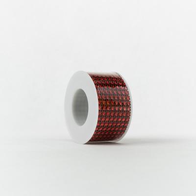 Strasszos szalag piros 4 cm-es 2,2 m