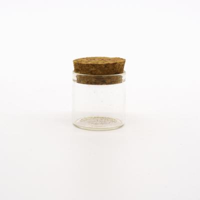 Üvegcse egyenesfalú parafadugóval 30×30 mm